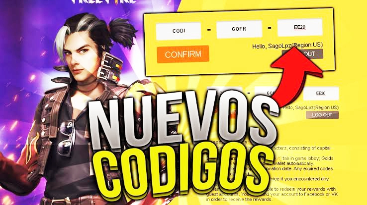 codigos free fire